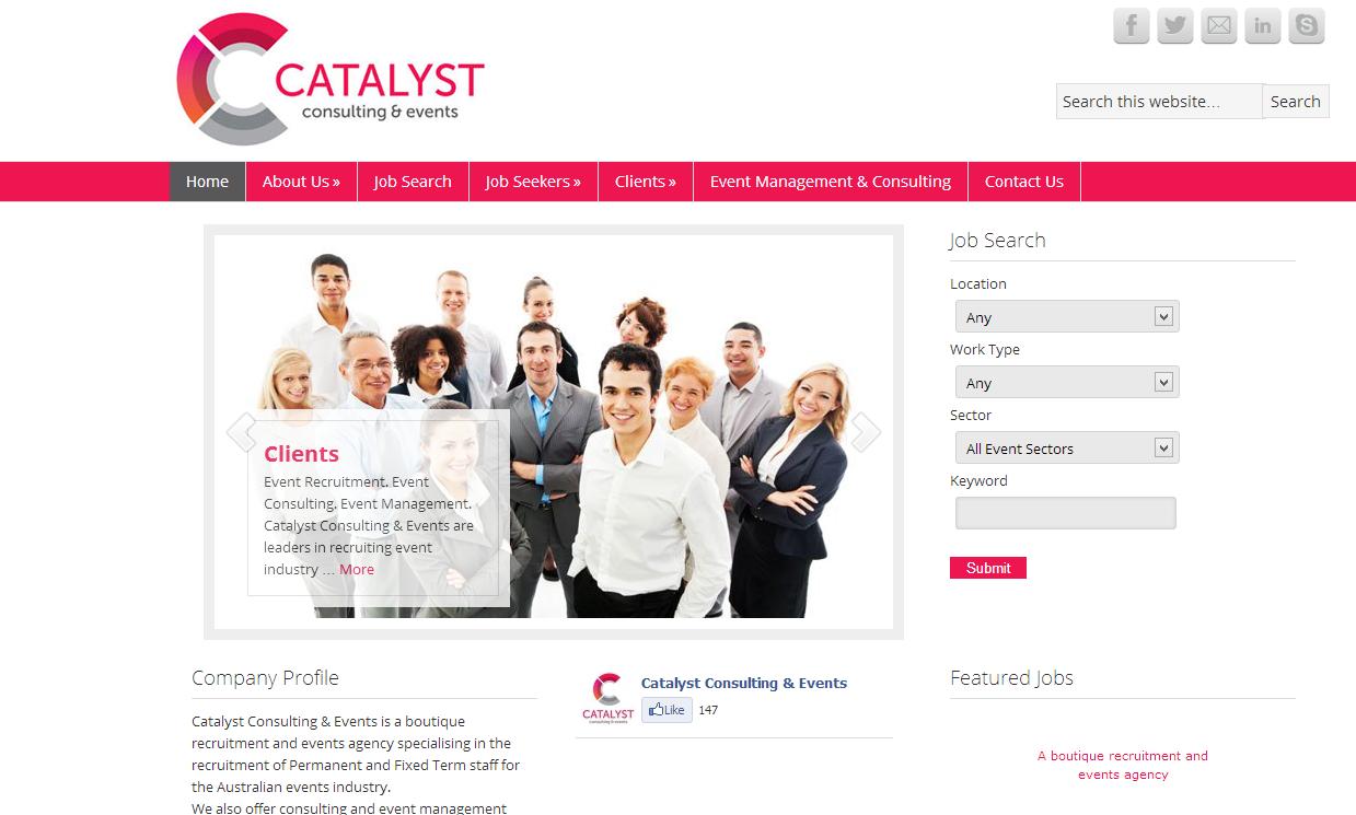 Catalyst Consulting   Events   Event Recruitment. Event Consulting. Event Management.